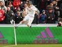 Gylfi Sigurdsson of Swansea City celebrates scoring his team's first goal against Norwich City at Liberty Stadium on March 5, 2016