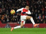 Alexis Sanchez of Arsenal miskicks during the Premier League match against Swansea City on March 2, 2016