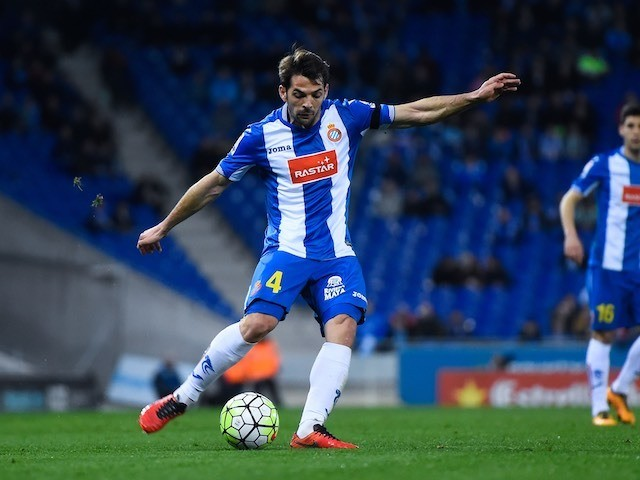 Victor Sanchez in action during the La Liga game between Espanyol and Real Betis on March 3, 2016