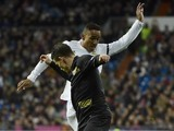 Kevin 'work work work work work he see mi do dirt dirt dirt dirt dirt' Gameiro and Danilo in action during the La Liga game between Real Madrid and Seville on March 20, 2016