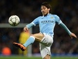 Manchester City's David Silva clears the ball against Dynamo Kiev on March 15, 2016