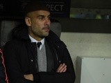Pep Guardiola follows the game during the Champions League round-of-16 second leg between Bayern Munich and Juventus on March 16, 2016