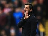 Quique Flores gestures during the Premier League match between Watford and Stoke City on March 19, 2016
