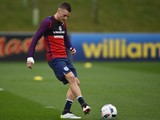 Jamie Vardy in action during an England training session on March 22, 2016