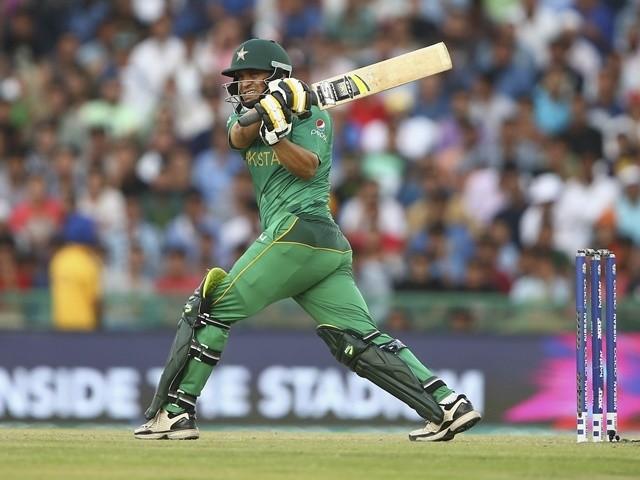 Khalid Latif bats for Pakistan against Australia on March 25, 2016