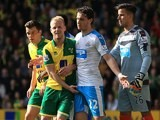 Steven Naismith cops a feel of Daryl Janmaat's dick during the Premier League game between Norwich City and Newcastle United on April 2, 2016