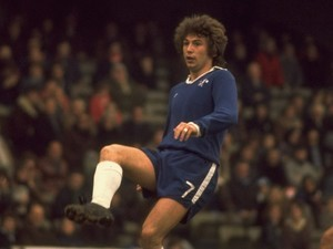 Ian Britton in action for Chelsea on March 1, 1977