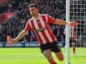 Shane Long celebrates scoring the opening goal during the Premier League match between Southampton and Newcastle United on April 9, 2016