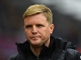 Eddie Howe ahead of the Premier League match between Aston Villa and Bournemouth on April 9, 2016