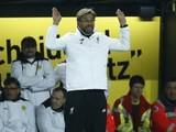 Jurgen Klopp surrenders during the Europa League quarter-final between Borussia Dortmund and Liverpool on April 7, 2016