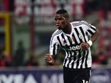 Paul Pogba celebrates scoring during the Serie A game between Milan and Juventus on April 9, 2016