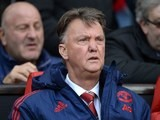 The eternally-outraged Louis van Gaal watches on during the Premier League game between Manchester United and Aston Villa on April 16, 2016
