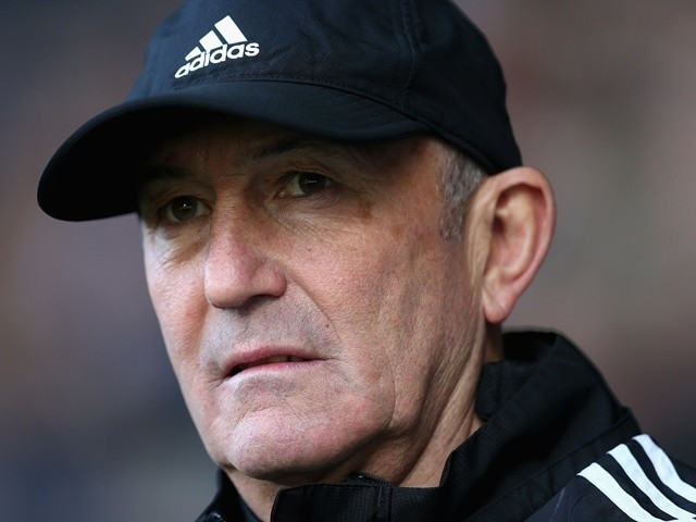 Tony Pulis prior to the Premier League match between West Bromwich Albion and Watford on April 16, 2016