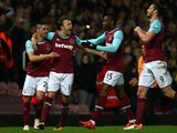 Mark Noble stands tall and proud during the Premier League game between West Ham United and Watford on April 20, 2016