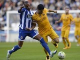 Sidnei and Luis Suarez in action during the La Liga game between Deportivo La Coruna and Barcelona on April 20, 2016
