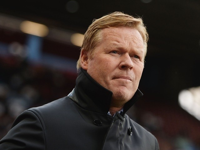 Ronald Koeman during the Premier League game between Aston Villa and Southampton on April 23, 2016