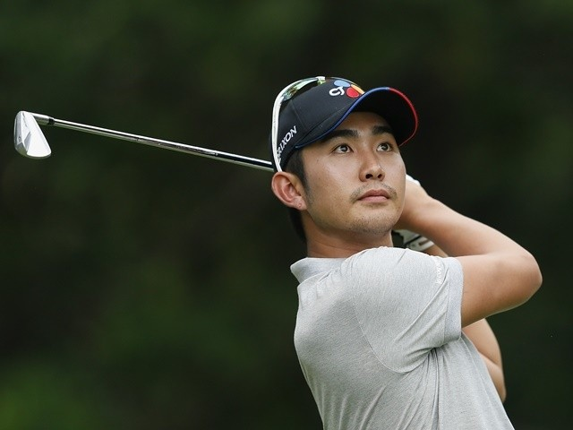 Soomin Lee of Korea plays a shot during the second round of the Shenzhen International at Genzon Golf Club on April 22, 2016