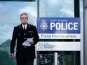 South Yorkshire Police Chief Constable David Crompton makes a statement to the media outside the force's headquarters on April 26, 2016