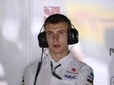 Sergey Sirotkin stands in the pits during the second practice session at the Autodromo Nazionale circuit in Monza on September 6, 2013