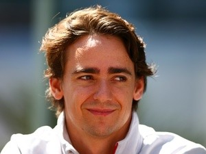 Esteban Gutierrez of Haas in the paddock during previews ahead of the Formula One Grand Prix of Russia at Sochi Autodrom on April 28, 2016