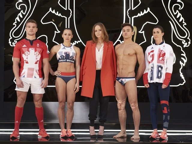 Stella McCartney joins Team GB and ParalympicsGB athletes to unveil the new adidas and Stella McCartney Team GB kit for Rio 2016