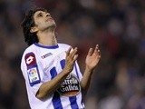 Juan Carlos Valeron reacts after missing a chance to score on December 20, 2009