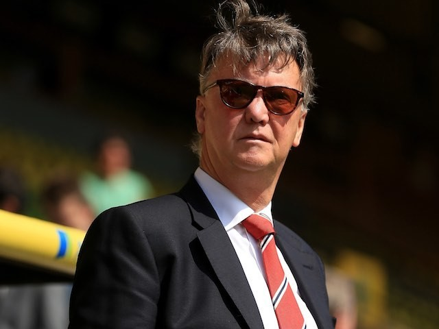 Louis 'I'll be back' van Gaal watches on during the Premier League game between Norwich City and Manchester United on May 7, 2016