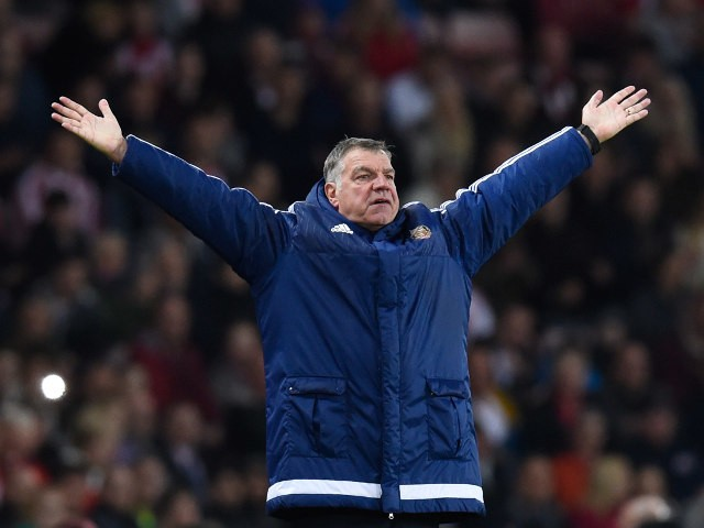 Sunderland manager Sam Allardyce is a policeman, cowboy and Indian short of a timeless classic during his side's 3-0 win over Everton on May 11, 2016