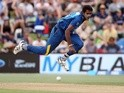 Dushmantha Chameera of Sri Lanka bowls during the fifth one-day international against New Zealand on January 05, 2016