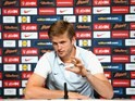 Eric 'fluffy' Dier speaks to the media at an England press conference on May 25, 2016