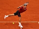 Novak Djokovic in action at the French Open on May 26, 2016