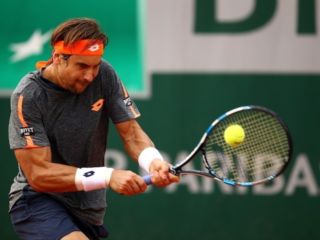 David Ferrer in action during the second round of the French Open on May 26, 2016