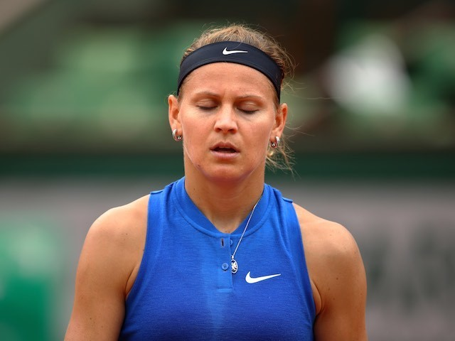 Lucie Safarova in action at the French Open on May 27, 2016