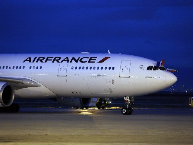 Generic shot of Air France airplane from 2016