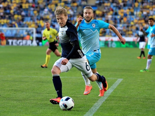 Emil Forsberg of Sweden during the international friendly match between against Slovenia on May 30, 2016