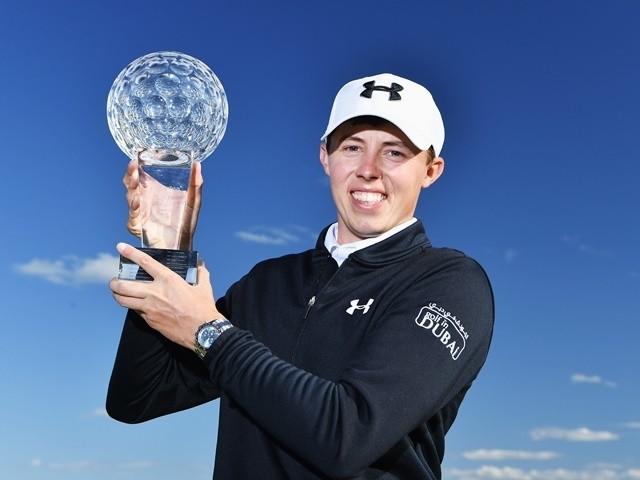 Matt Fitzpatrick of England holds the trophy for winning the Nordea Masters at Bro Hof Slott Golf Club on June 5, 2016
