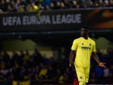Villarreal's Eric Bailly reacts during the UEFA Europa League Quarter Final first leg match between Villarreal CF and Sparta Prague at El Madrigal on April 7, 2016 in Villarreal, Spain