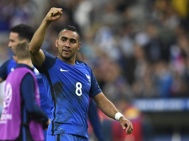 France's forward Dimitri Payet acknowledges the fans after France beat Romania 2-1 in the opening match of the Euro 2016 group A football match between France and Romania at Stade de France, in Saint-Denis, north of Paris, on June 10, 2016