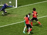 Axel Witsel scores his side's second goal during the Euro 2016 Group E match between Belgium and Republic of Ireland on July 18, 2016