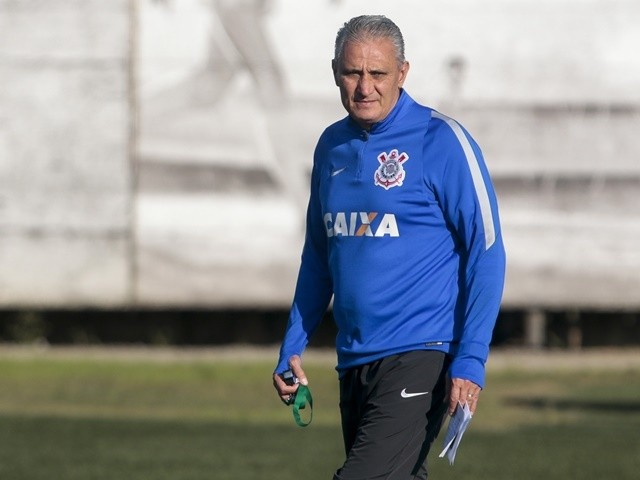 Tite participates in a Brazil training session at the team headquarters in Sao Paulo on June 15, 2016