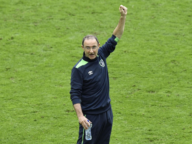 Ireland's coach Martin O'Neill attends the Euro 2016 group E football match between Ireland and Sweden at the Stade de France stadium in Saint-Denis on June 13, 2016. The match ended in a 1-1 draw
