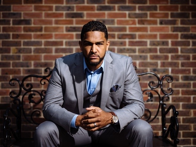 Dominic Breazeale poses for a picture on May 4, 2016