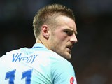 Jamie Vardy of England reacts during the UEFA EURO 2016 round of 16 match between England and Iceland at Allianz Riviera Stadium on June 27, 2016 in Nice, France
