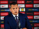 Martin Glenn, CEO of the FA speaks during a press conference with Roy Hodgson (Not Pictured) on June 28, 2016 in Chantilly, France