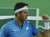 Juan Martin Del Potro in action during the Olympics singles final on August 14, 2016