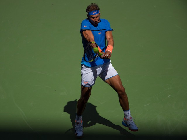 Rafael Nadal in action at the US Open on August 29, 2016