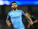 Sergio Aguero in action for Man City on September 14, 2016