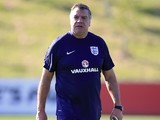 Sam Allardyce takes England training on August 30, 2016