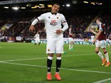 Troy Deeney looks dejected during the Premier League game between Burnley and Watford on September 26, 2016