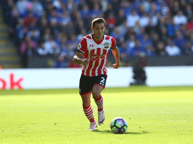 Southampton defender Cedric Soares in action during his side's Premier League match against Leicester City at the King Power Stadium on October 2, 2016
